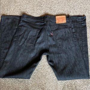 Men's Levi Black 513 32x30 Jeans